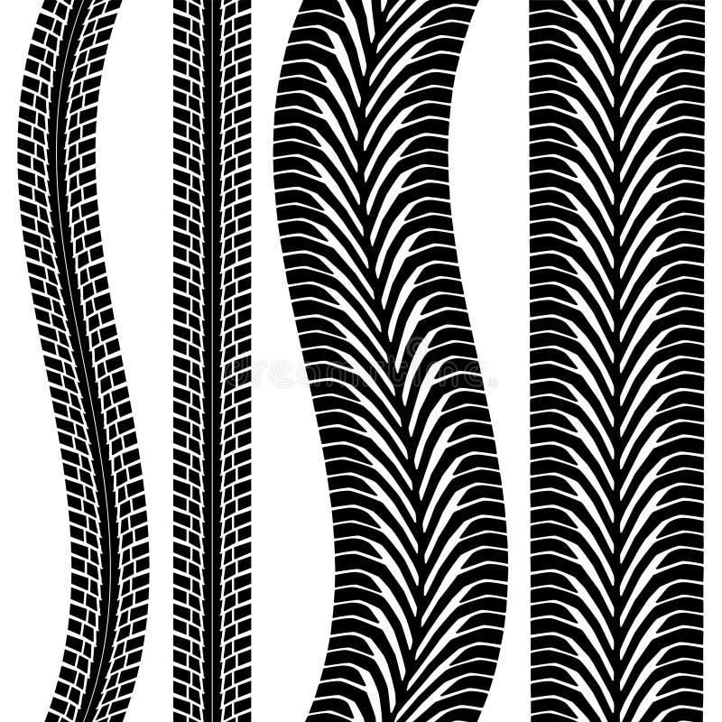 Trilha do pneu ilustração do vetor