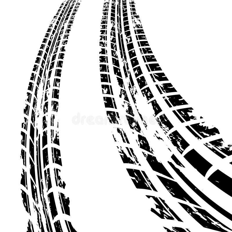 Trilha do pneu ilustração royalty free