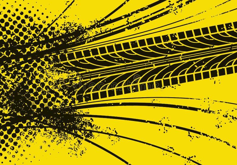 Trilha do pneu de carro ilustração royalty free