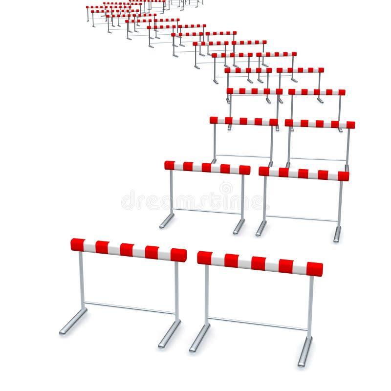 Trilha dos obstáculos ilustração stock