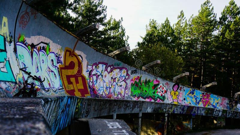 Trilha dos trenós de Sarajevo imagem de stock royalty free