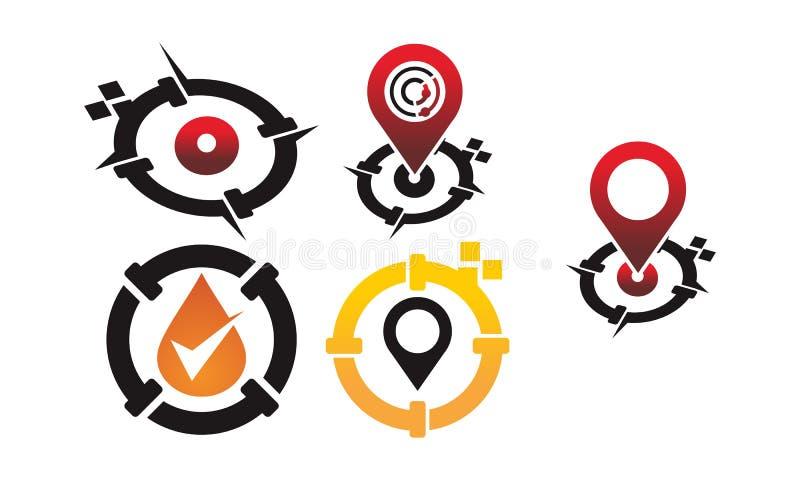 Trilha Pin App do encanamento ilustração do vetor