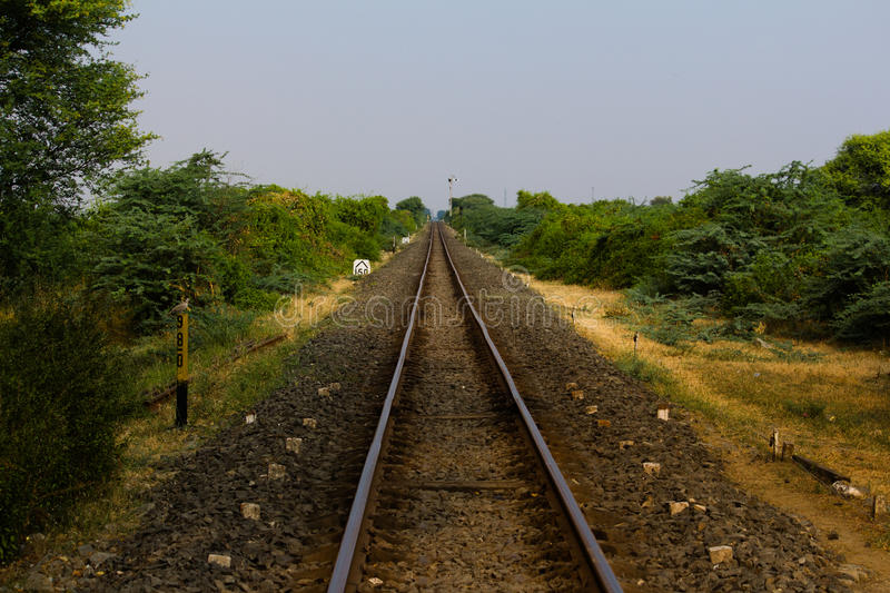 A trilha Railway foto de stock royalty free