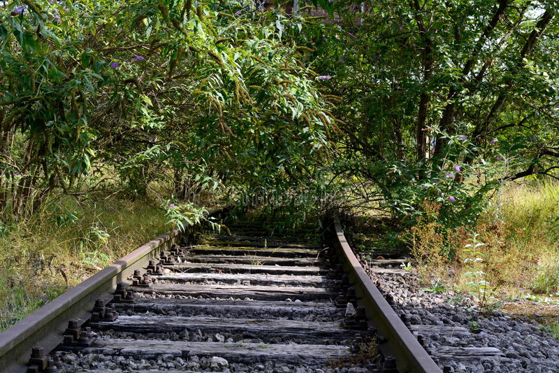 Trilha Railway ainda colocada fotos de stock royalty free