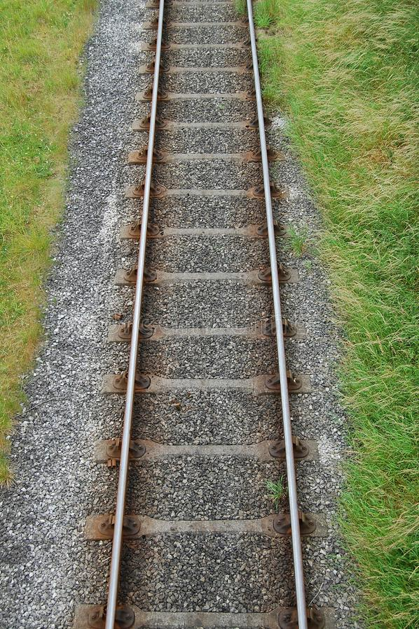 Trilha Railway de acima foto de stock royalty free