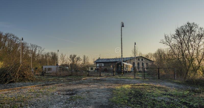 Trilha Railway e ponte na área de Bakov nad Jizerou imagens de stock royalty free