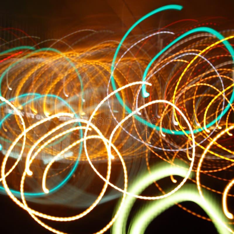 Trilhas caóticas de luzes instantâneas imagens de stock royalty free