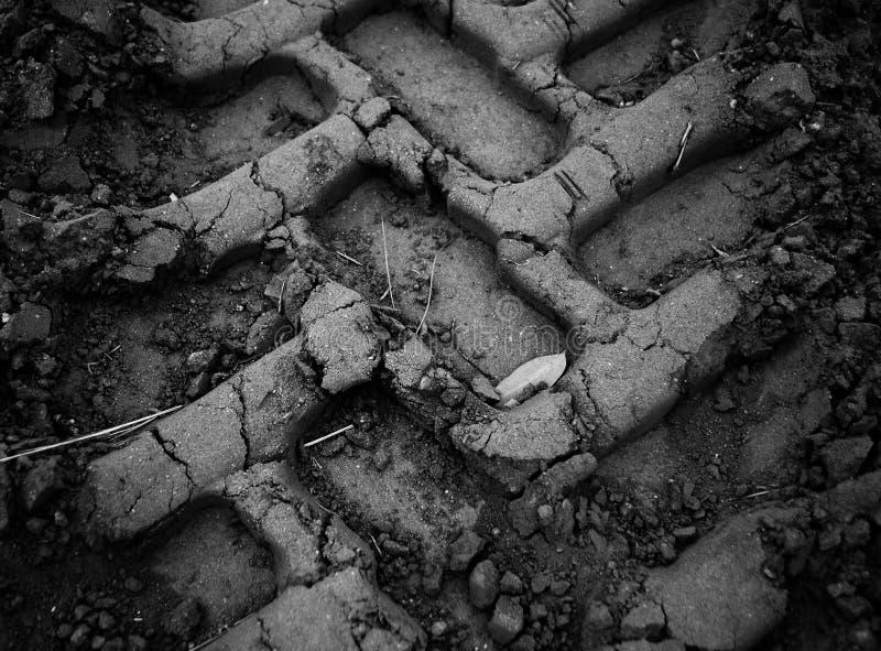 Trilhas da lama imagem de stock