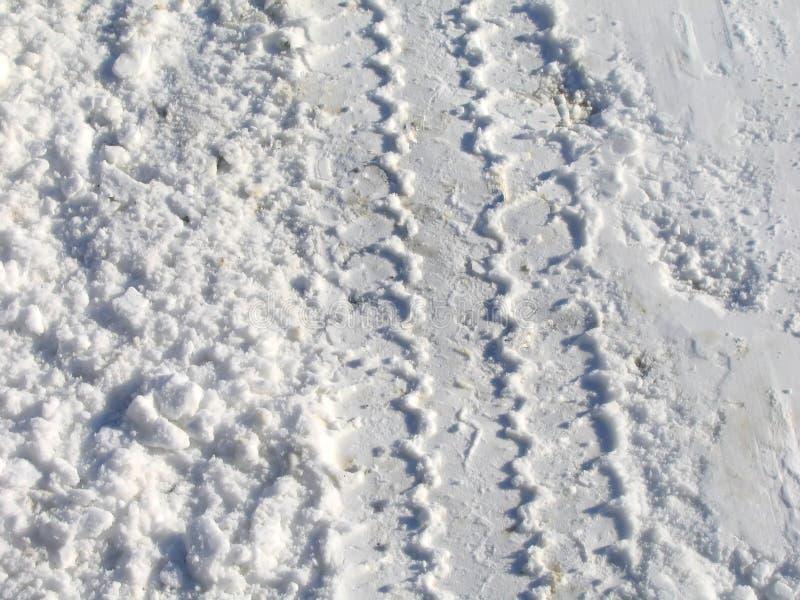 Download Trilhas da neve foto de stock. Imagem de molhado, frio, gelado - 64046