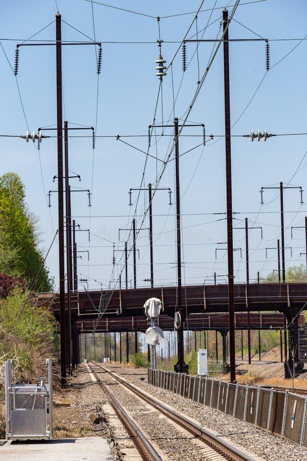 Trilhas de Amtrak imagem de stock royalty free