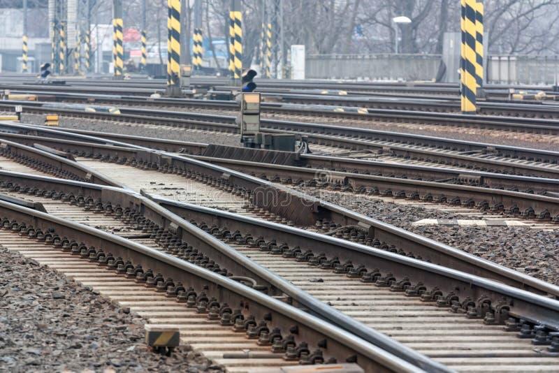 Trilhas de estrada de ferro fotografia de stock royalty free
