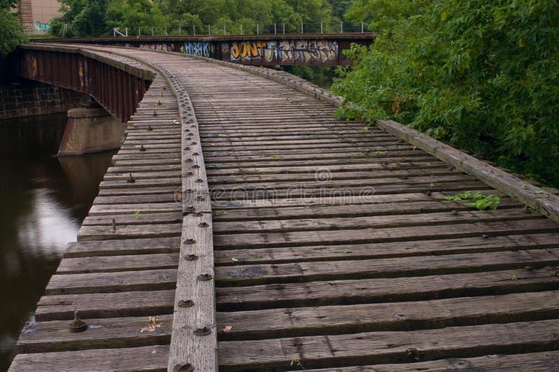 Trilhas de estrada de ferro convergentes fotos de stock