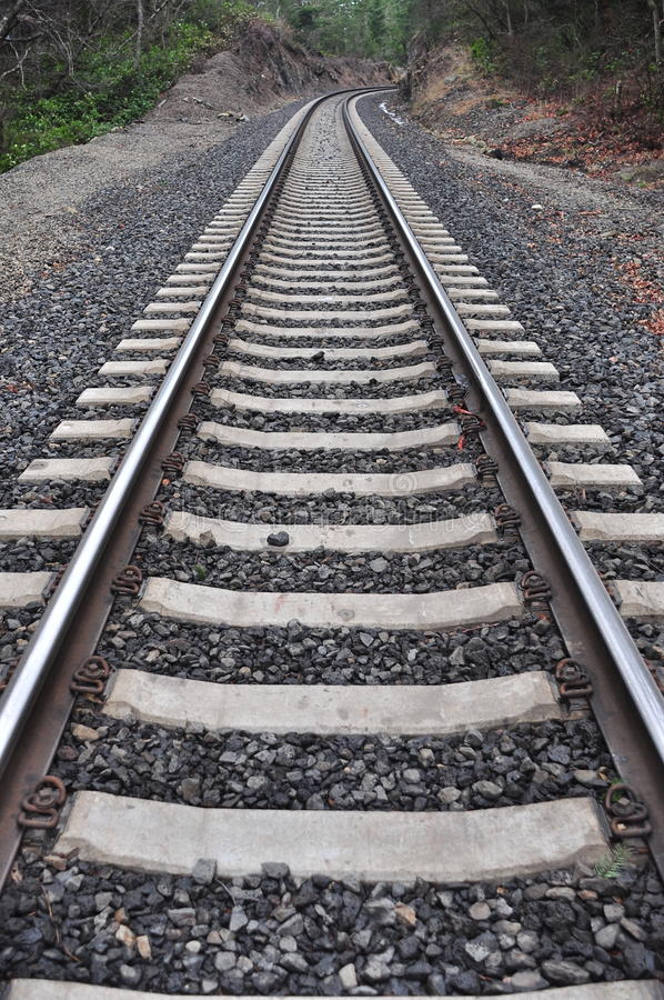Trilhas de estrada de ferro de desaparecimento imagens de stock royalty free