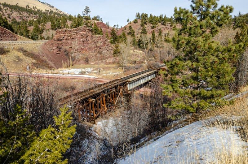 Trilhas de estrada de ferro, estradas, e cenário fotos de stock royalty free