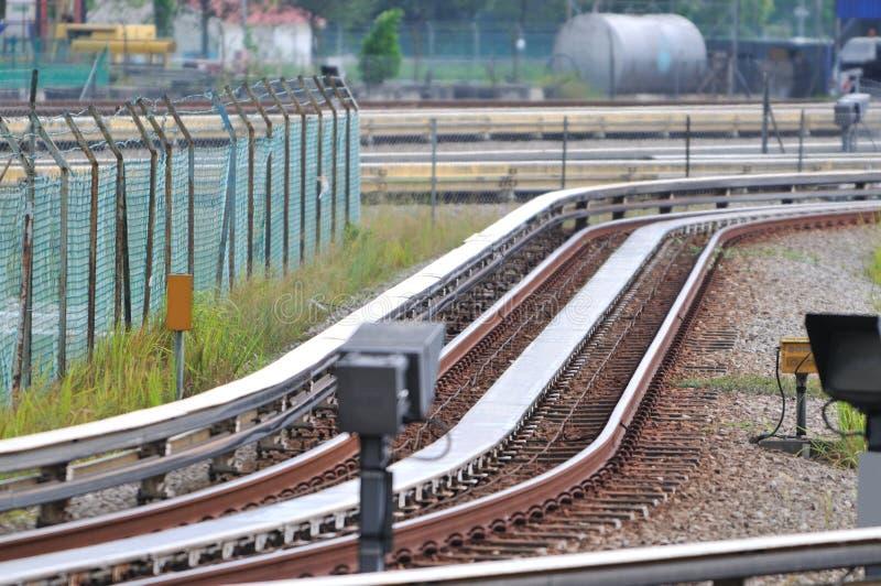 Trilhas de LRT imagem de stock royalty free