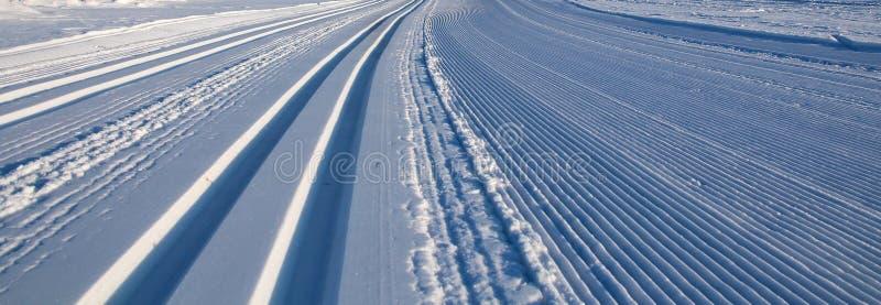 Trilhas do esqui do corta-mato imagem de stock royalty free