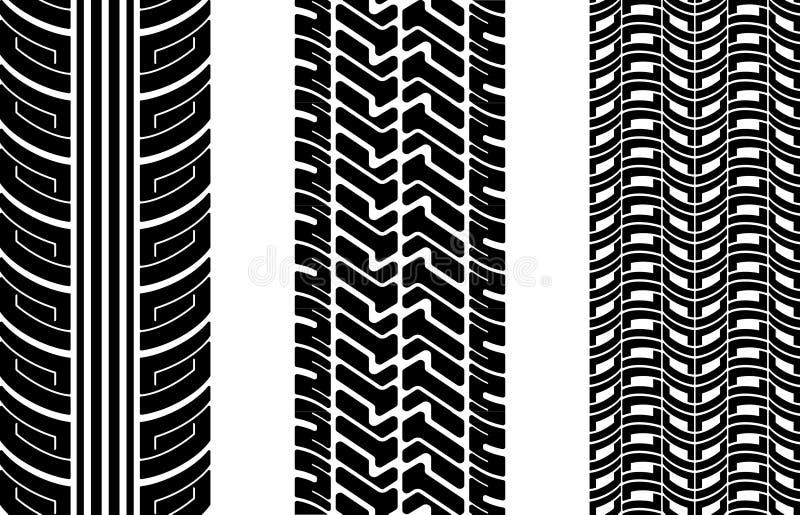 Trilhas do pneu ilustração royalty free