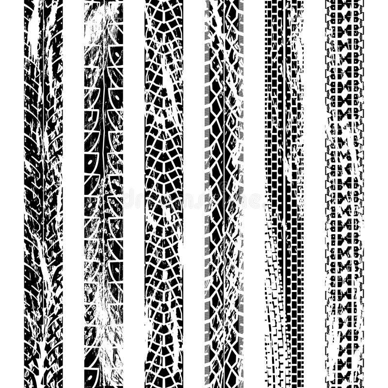 Trilhas do pneu da motocicleta da coleção ilustração stock
