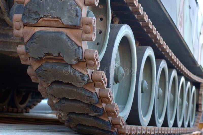 Trilhas do tanque fotografia de stock royalty free