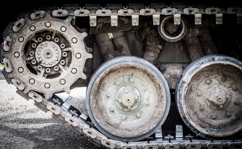 Trilhas do tanque foto de stock royalty free