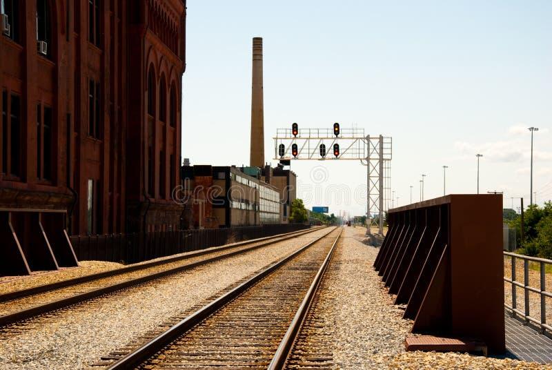Trilhas do trem fotografia de stock royalty free