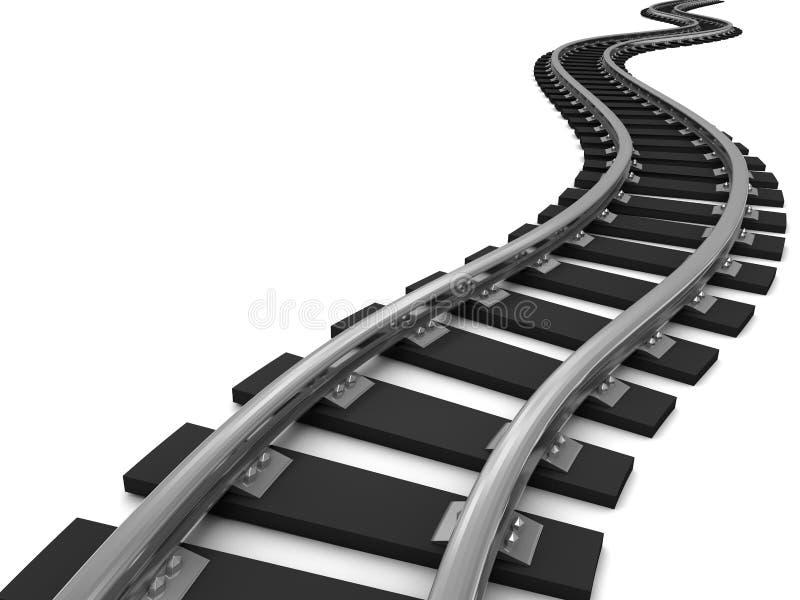 Trilhas do trem da curva imagens de stock royalty free