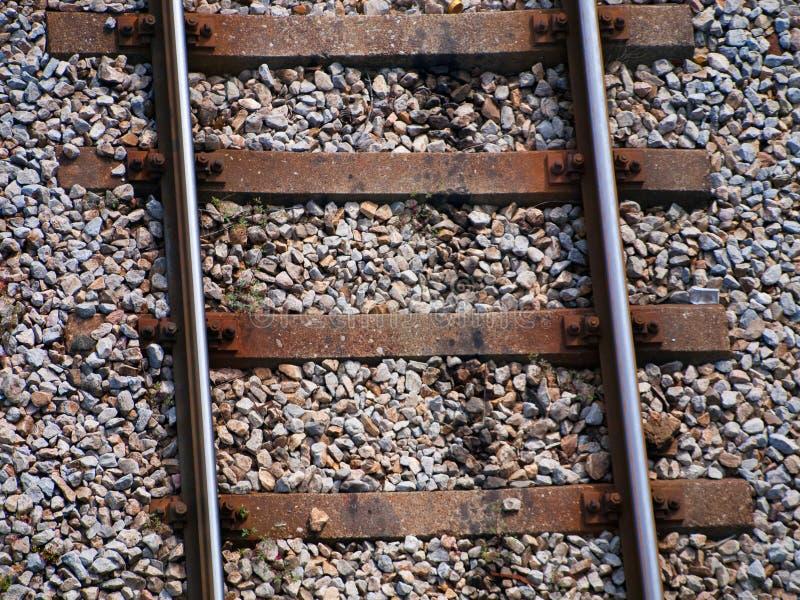 Trilhas do trem - vista superior imagem de stock