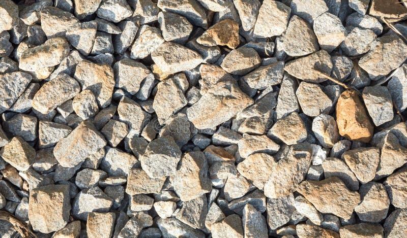 trilhas Railway da rocha, fundo de pedra imagens de stock royalty free