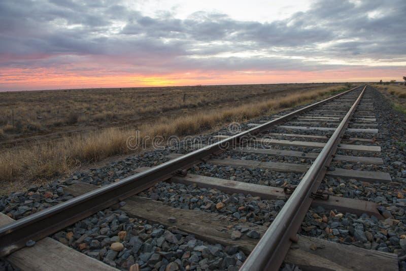 Trilhas railway vazias imagens de stock royalty free