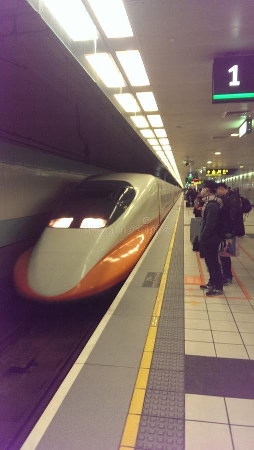 Trilho de alta velocidade de Taiwan fotografia de stock royalty free