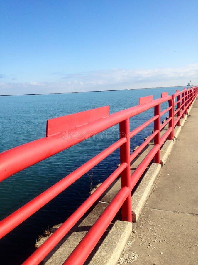 Trilho do Lago Michigan imagem de stock