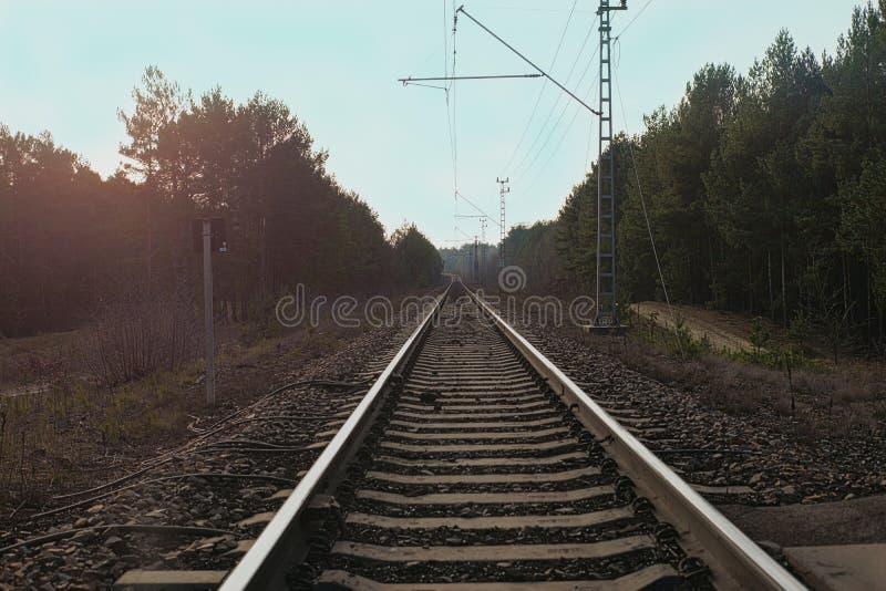 Trilho do trem fotografia de stock