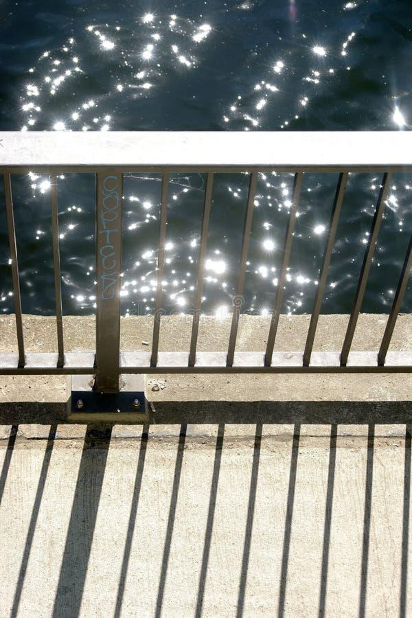 Trilhos abstratos da ponte foto de stock
