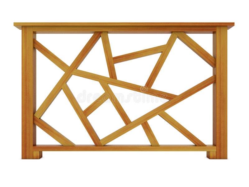 Trilhos de madeira do projeto do Ipe ilustração do vetor