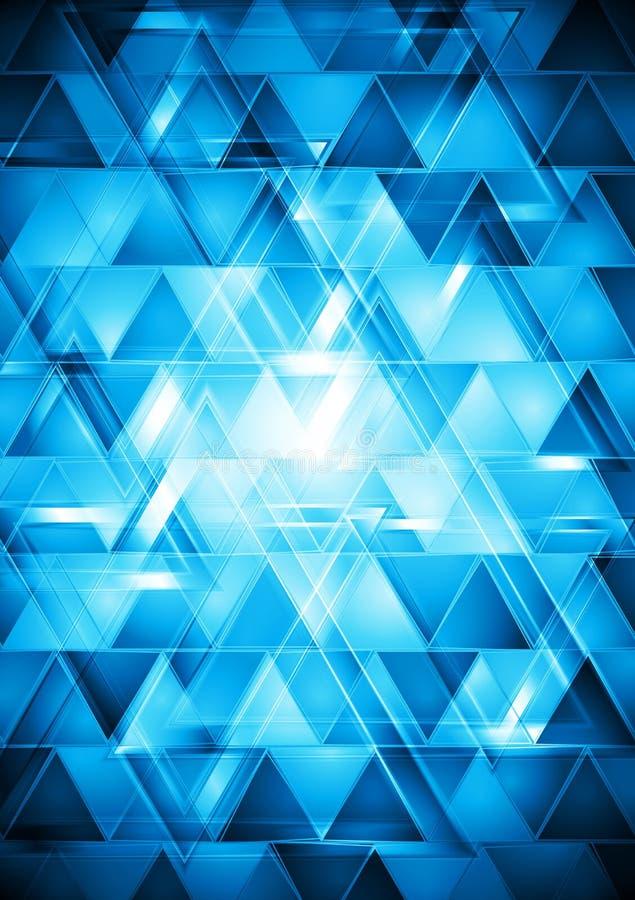 Trillend blauw hi-tech vectorontwerp royalty-vrije illustratie