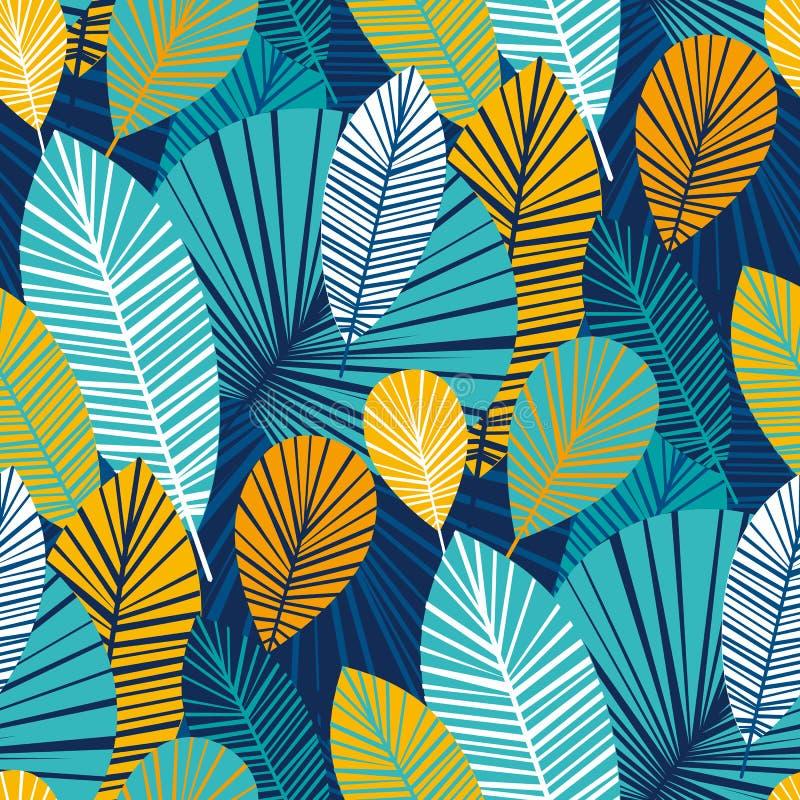 Trillend koel bladeren naadloos patroon vector illustratie
