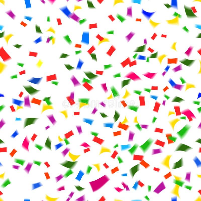 Trillend naadloos patroon van dalende confettien stock illustratie