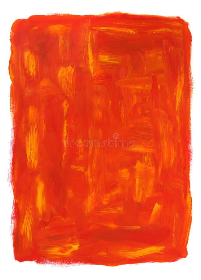 Trillend oranje abstract olieverfschilderij royalty-vrije illustratie