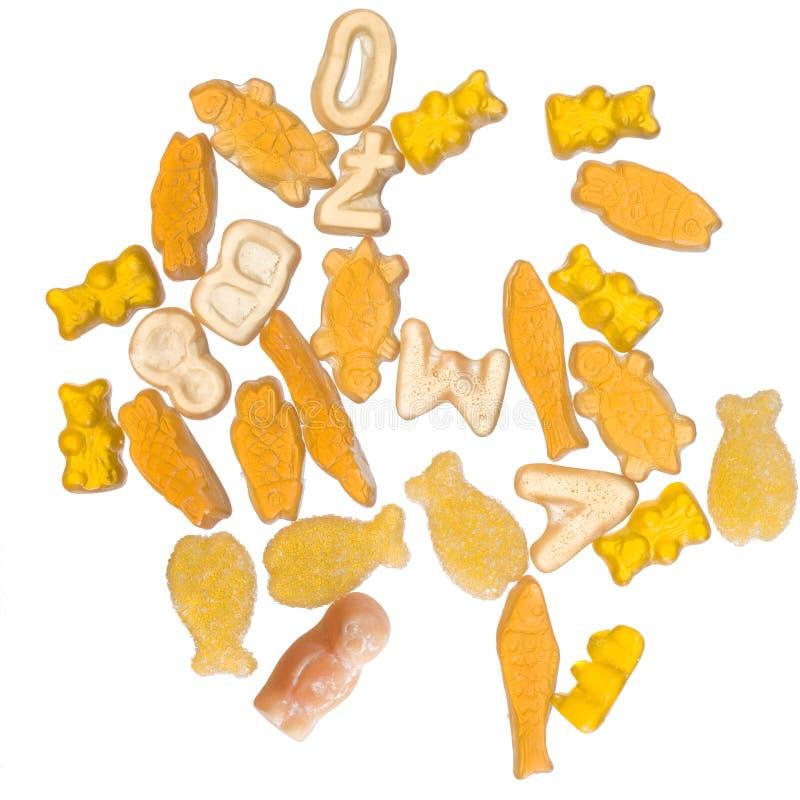 Trillend oranje geleisuikergoed royalty-vrije stock fotografie