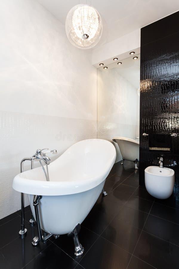 Trillend plattelandshuisje - Originele badkamers stock afbeeldingen