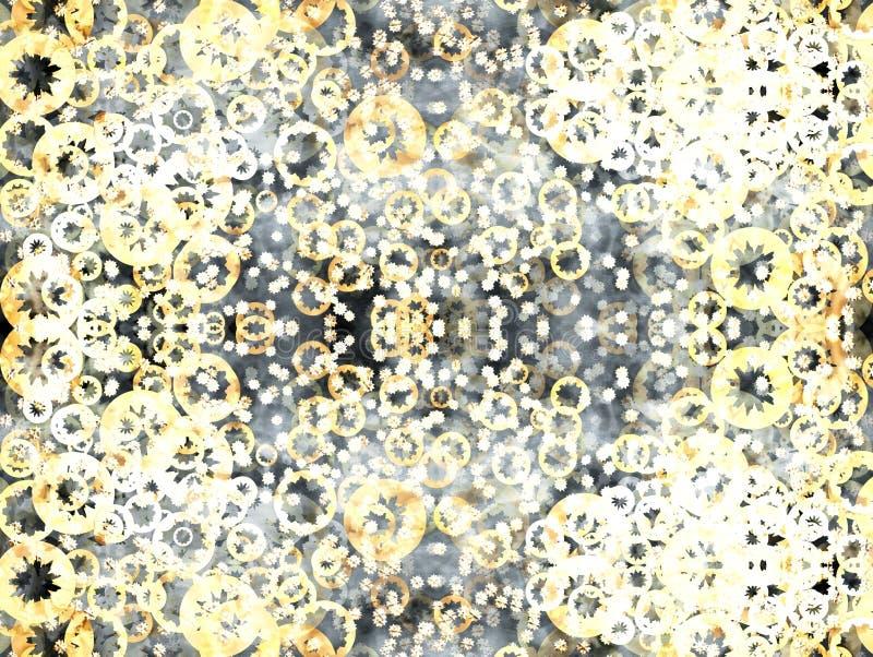 Trillend sepia abstract patroon vector illustratie