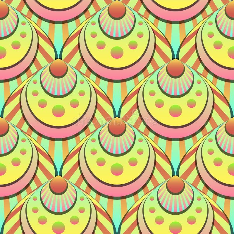 Trillend shells van de gradiënt naadloos fee vector licht patroon stock illustratie