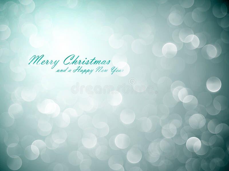 Trillende Lichten | De Achtergrond van Kerstmis stock illustratie