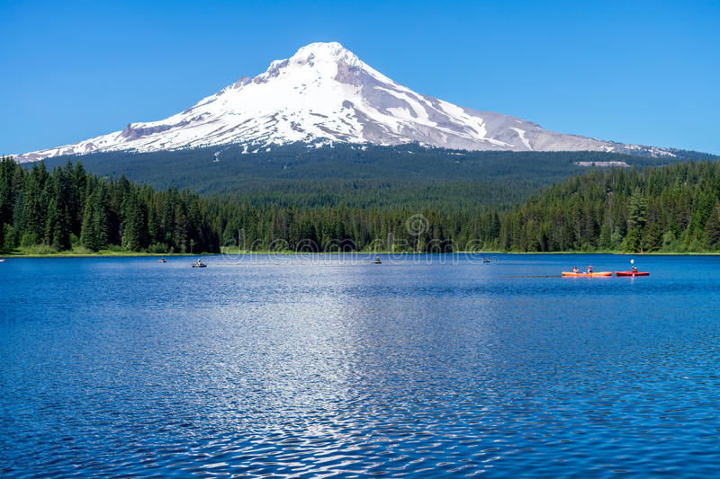 Trillium Lake stock images