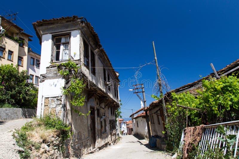 Trilye in Slijmbeurs, Turkije stock foto's