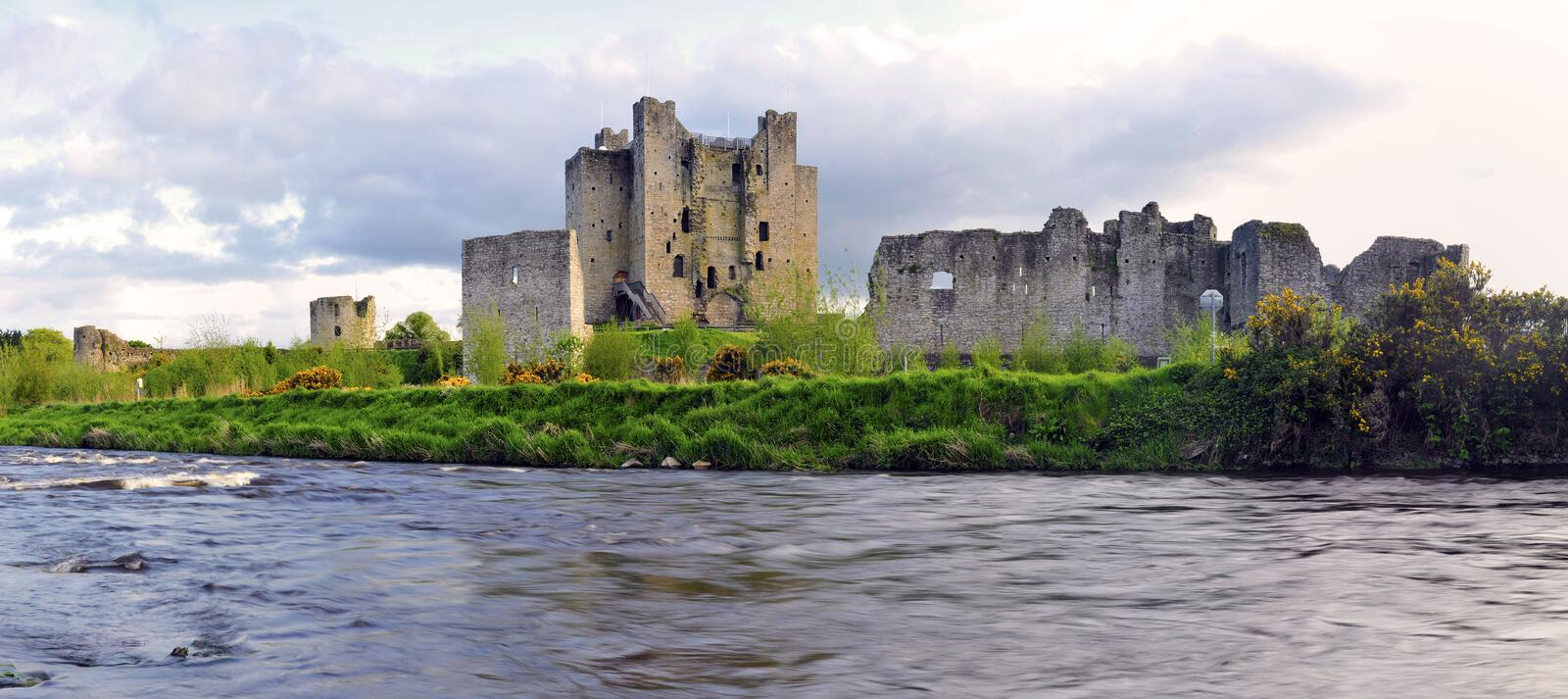 Trim Castle. On the banks of the Boyne River in County Meath, is the largest Anglo-Norman Castle in ireland and was used as location in making the film royalty free stock photos