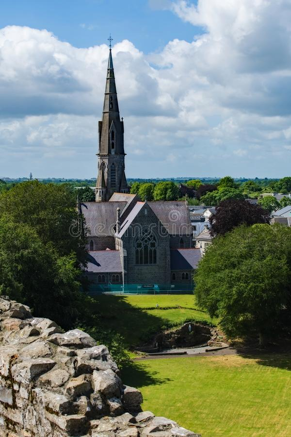Trim Castle Abbey Ireland stock photography