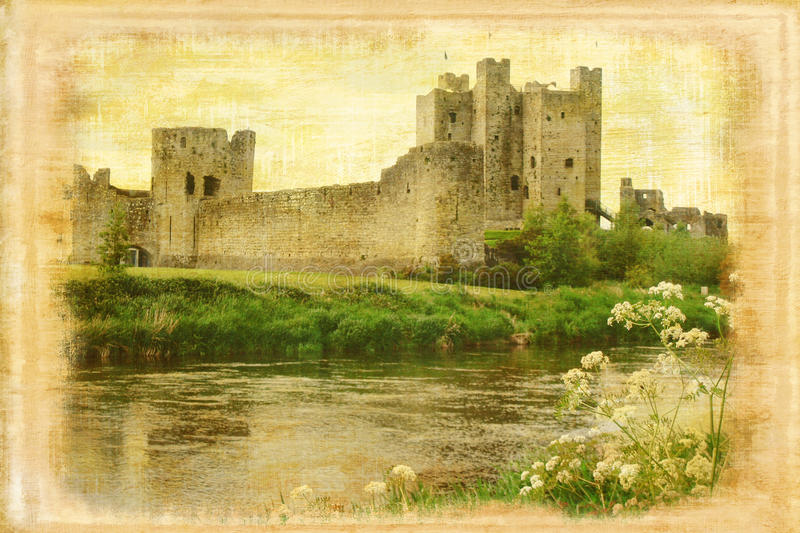 Trim castle. Trim . Ireland royalty free stock images