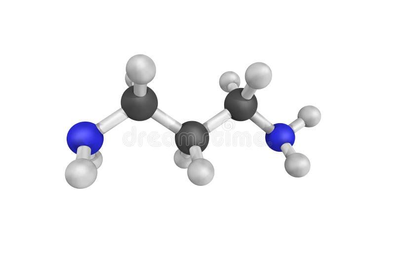 Trimethylenediamine, usado como um catalizador e um reagente no polymeriz foto de stock royalty free