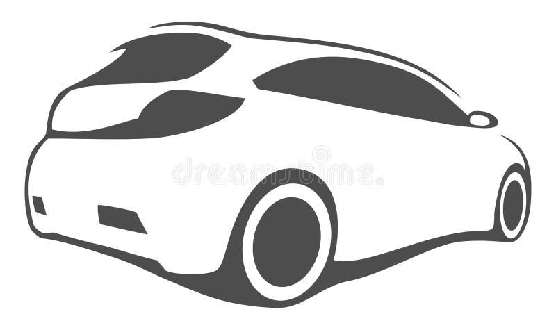 Trimma bilkonturn vektor illustrationer
